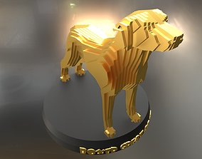 Parametric Boxer Great Dane 3D asset