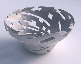 Bowl wide and twisted with cuts 3D printable model