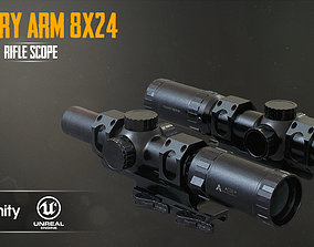 Primary Arms 8x24 RifleScope 3D model low-poly