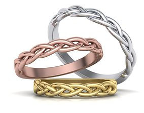 Braided ring wedding band 0228 printable model