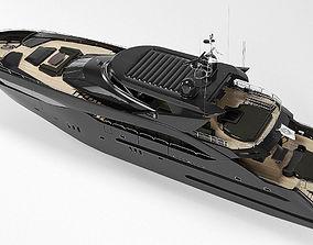 Sunseeker Predator 130 superyacht 3D