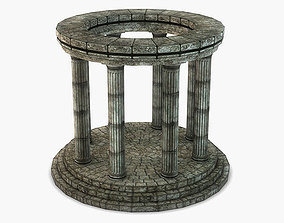 poly Stone Oracle Temple 3D model