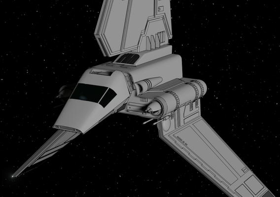 Lambda-class T-4a shuttle - Fan Art