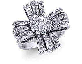 Flower Diomand Ring 3d model print wedding