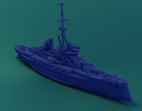 3D print model Brazilian Battleship Sao Paulo
