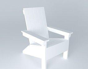Adirondack chair 3D ana