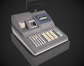 Cash Register Terminal 3D model game-ready