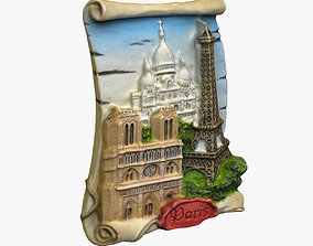 3D printable model Paris Magnet Souvenir 3