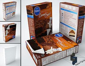 Pillsbury Caramel Swirl Brownie Mix 3D