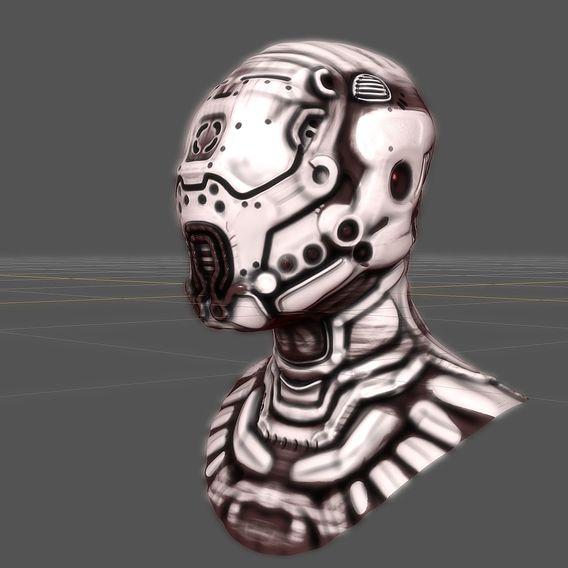 Futuristic Alien Helmet