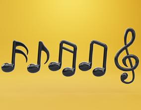 Musical Note Tone 3D Model