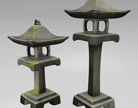 Japanese Stone Lanterns 3D model