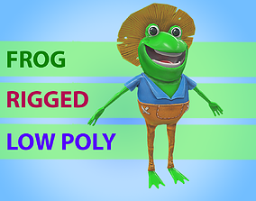 3D model rigged Frog character