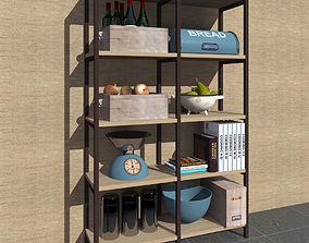 Shelve 3D model furniture-set