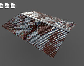3D model Old roofing galvanized
