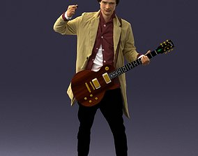 Musician 0118 Electric guitar 3D Print Ready