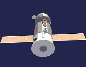 Low Poly Cartoony Soyuz 3D asset