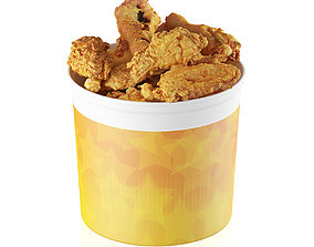 3D Fried chicken bucket