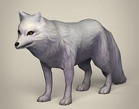 3D model Game Ready White Fox