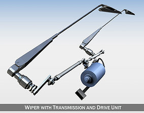 3D model Wiper with transmission and drive unit