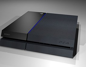 Sony PlayStation 4 - Low-poly 3D model