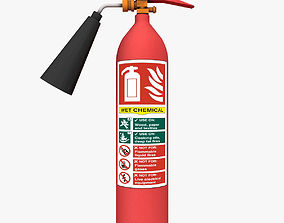 Fire extinguisher 3D model game-ready