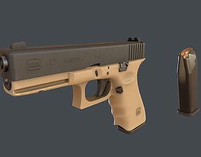 3D model Sand Glock 17 with magazine
