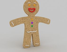 3D model holiday Gingerbread man