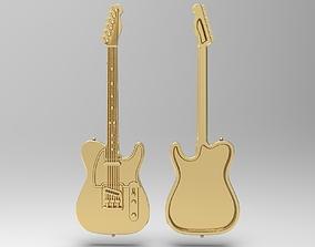 Fender Telecaster badge pendant pin broche 3D print model