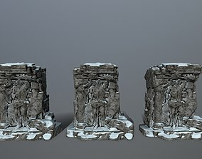 statue 2 old 3D asset game-ready