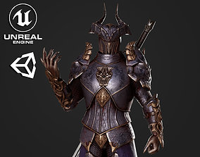 Horned Knight - Game Ready 3D model