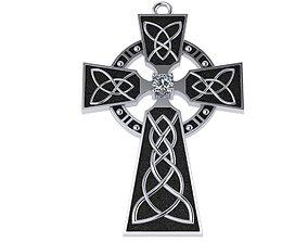 Celtic cross traditional 3D print model