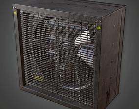 3D model Industrial Exhast Fan - HSG - PBR Game Ready