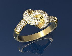Fancy Ring gold 3D print model
