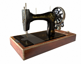 Old Singer Sewing Machine 3D model