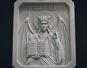 Satan Relief and Pendant 3D printable model