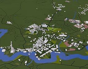 Derry Londonderry City of Ireland 3D asset