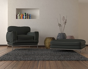 Armchair and Puff 3D