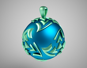 3D printable model Twisted Sphere Necklace