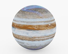 Planet Jupiter with Aurora 3D asset