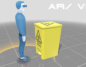 Bio Waste Bin 3D asset