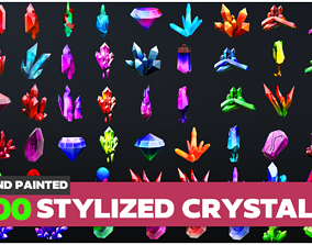 Stylized Crystal Collection 3D asset