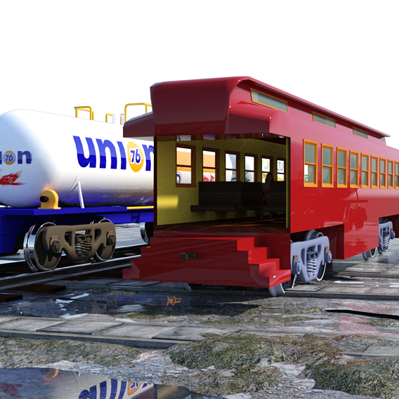 A Train and a Kitchen