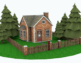 3D model game-ready COUNTRYHOUSE