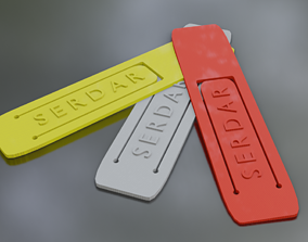 Printable Tagged Bookmark 3d Model