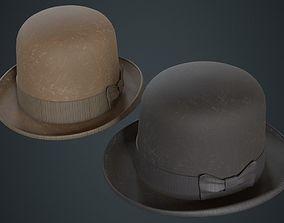 Bowler Hat 2B 3D asset