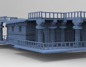 3D Greek Architecture temple Ground floor