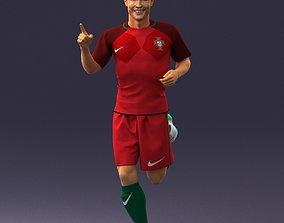 Running Cristiano Ronaldo 0234 3D Print Ready