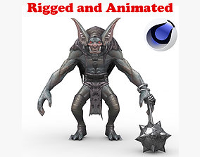 Batra Demon Rigged and Animated 3D model
