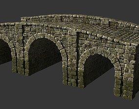 3D asset Medieval stone bridge